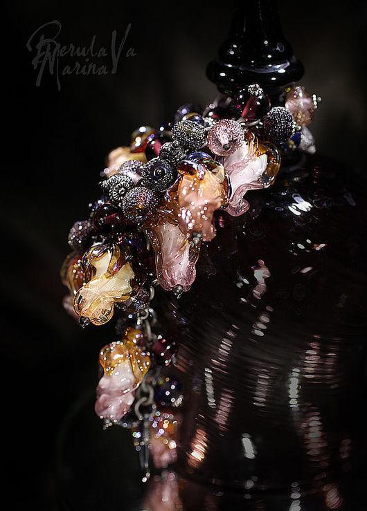 """Колье, бусы ручной работы. Ярмарка Мастеров - ручная работа. Купить Колье-браслет """"Розово-аметистовый"""" из коллекции """"Сады Семирамиды"""". Handmade."""