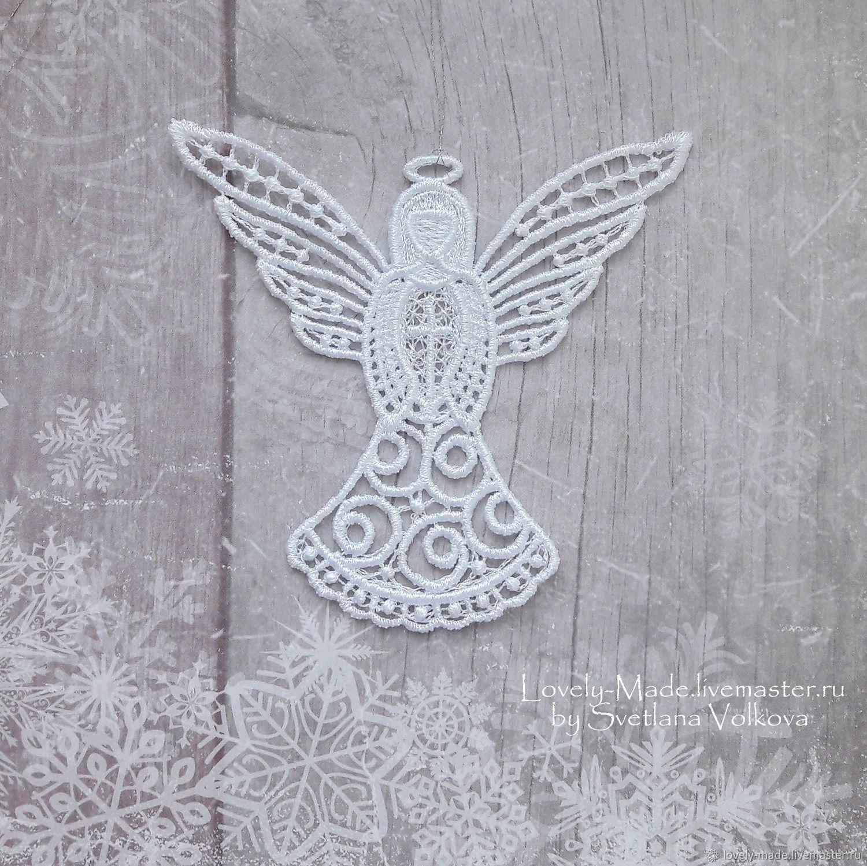 A Christmas Angel. Christmas tree ornament (lace), Christmas decorations, Chelyabinsk,  Фото №1
