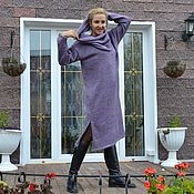 Одежда handmade. Livemaster - original item Sweater dress in light dusty lilac with accessories. Handmade.