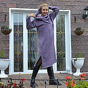 Одежда ручной работы. Ярмарка Мастеров - ручная работа Платье-свитер светло-пыльная сирень с аксессуарами. Handmade.