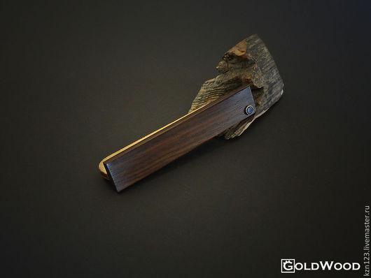 """Украшения для мужчин, ручной работы. Ярмарка Мастеров - ручная работа. Купить Зажим для галстука """"Plane"""". Handmade. Черный, деревянные украшения"""