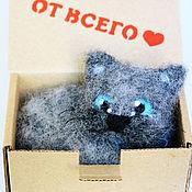 Куклы и игрушки ручной работы. Ярмарка Мастеров - ручная работа Кот от всего сердца (игрушка из шерсти). Handmade.