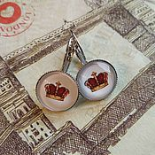 Украшения handmade. Livemaster - original item Earrings Crown (earrings). Handmade.