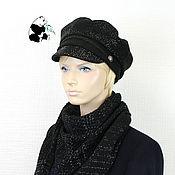 Аксессуары handmade. Livemaster - original item Designer women`s cap №2. Textile soft cap cashmere.. Handmade.