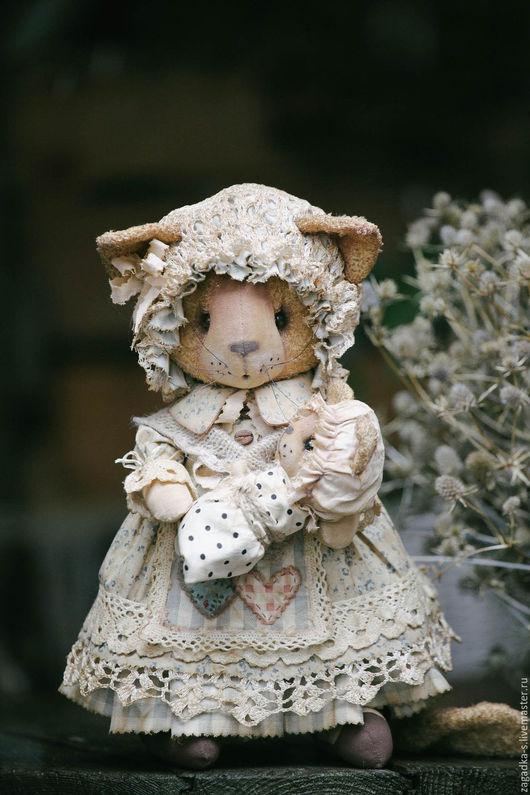 Ароматизированные куклы ручной работы. Ярмарка Мастеров - ручная работа. Купить Кошка мама.. Handmade. Серый, бохо-стиль, хлопок