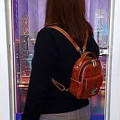 Сумки и аксессуары handmade. Livemaster - original item Backpack leather
