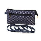 Сумки и аксессуары handmade. Livemaster - original item Crossbody bag: Women`s blue leather clutch bag Lily Mod S73-462. Handmade.