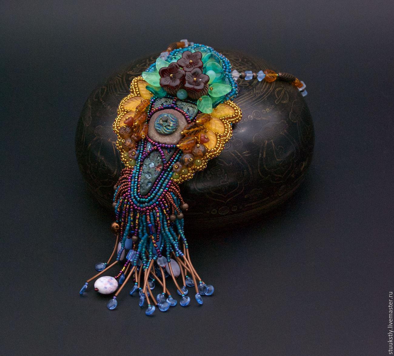 "Pendant bead with ceramic cabochon ""Romans in Atlantis"", Pendants, Moscow,  Фото №1"