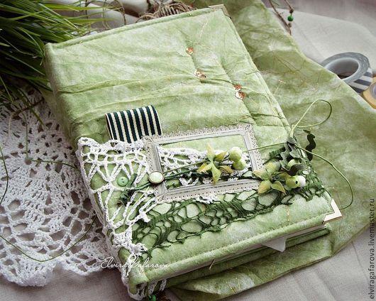 Блокноты ручной работы. Ярмарка Мастеров - ручная работа. Купить Зеленый блокнот ручной работы. Handmade. Зеленый, подарок женщине