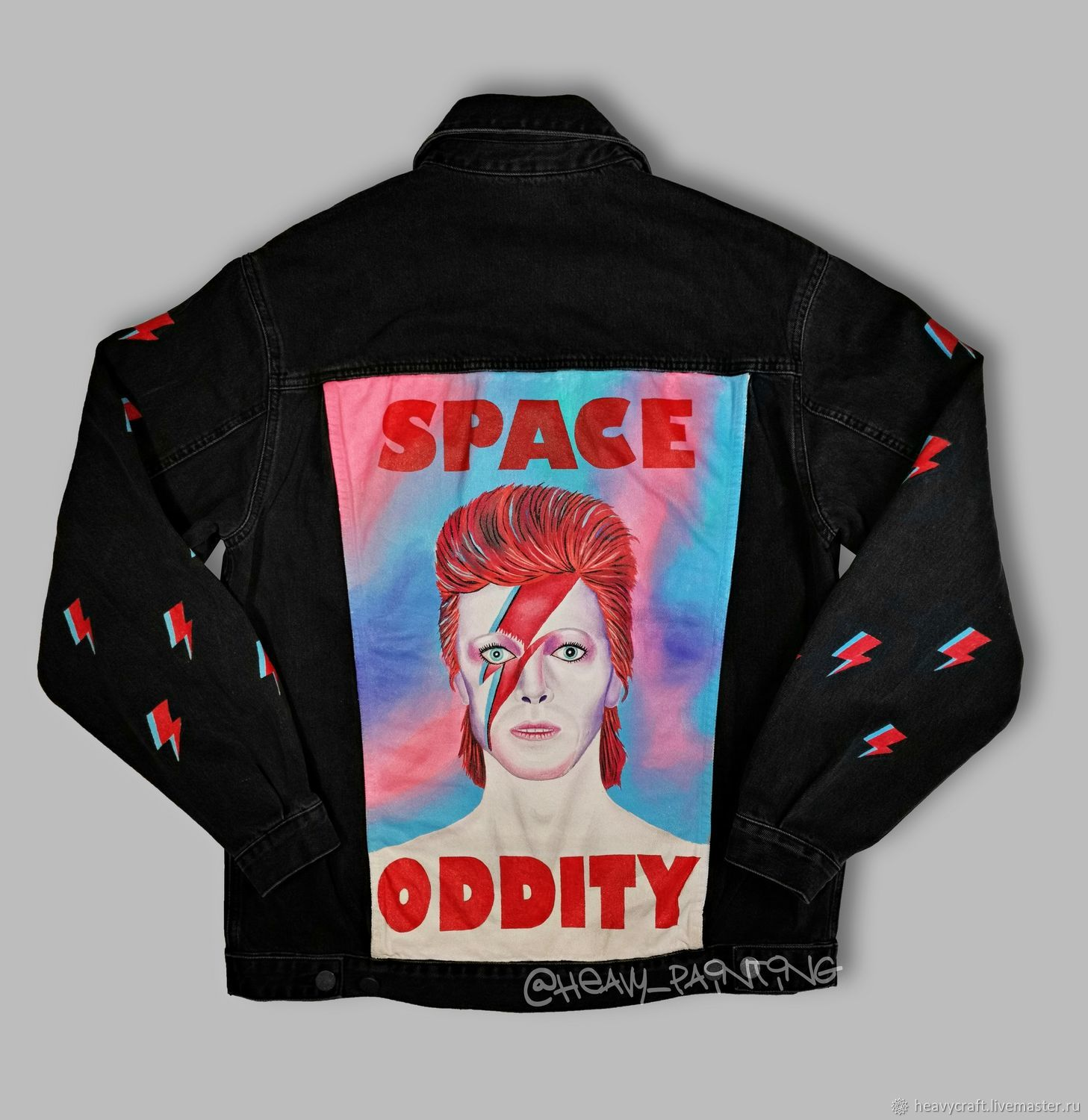 Hand-painted jeans ' David Bowie', Outerwear Jackets, St. Petersburg,  Фото №1