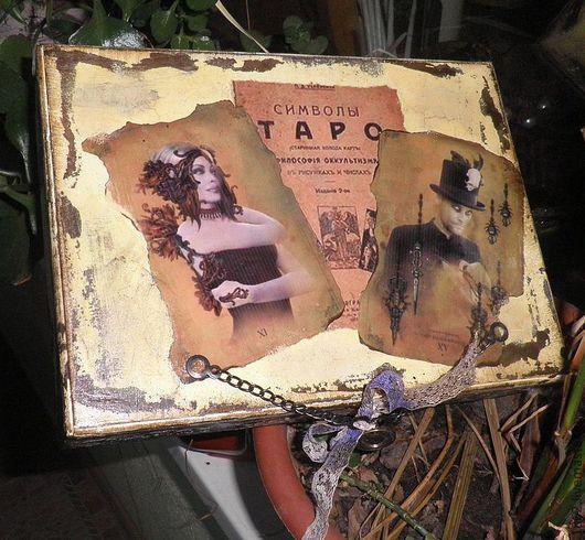 """Шкатулки ручной работы. Ярмарка Мастеров - ручная работа. Купить Ларец для Таро""""Старина"""". Handmade. Шкатулка, Старшие Арканы, магия"""