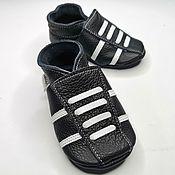 Работы для детей, handmade. Livemaster - original item Baby Moccasins, Black Baby Shoes, Ebooba,Baby Sneakers. Handmade.