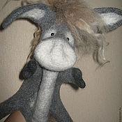 Куклы и игрушки ручной работы. Ярмарка Мастеров - ручная работа Игрушка-перчатка  Ослик ИА. Handmade.