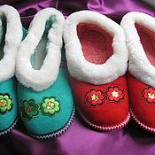 Обувь ручной работы handmade. Livemaster - original item Slippers made of fur Mouton. Handmade.