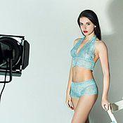 Одежда handmade. Livemaster - original item A set of Lacy underwear American. Handmade.