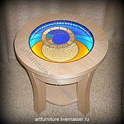 Для дома и интерьера ручной работы. Ярмарка Мастеров - ручная работа Журнальный столик с подсветкой Космос. Handmade.