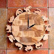 """Часы ручной работы. Ярмарка Мастеров - ручная работа Часы настенные """"Динозаврики"""". Handmade."""