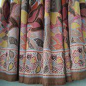 """Одежда ручной работы. Ярмарка Мастеров - ручная работа Пышная юбка из батиста на резинке """"Мозаика""""коричнево-розовая. Handmade."""