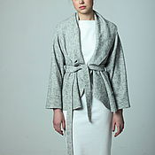 Одежда handmade. Livemaster - original item Loden jacket grey melange. Handmade.