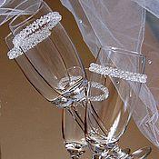 """Свадебный салон ручной работы. Ярмарка Мастеров - ручная работа """"Хрустальный звон""""-Свадебные бокалы. Handmade."""
