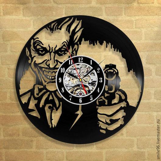 """Часы для дома ручной работы. Ярмарка Мастеров - ручная работа. Купить Часы из пластинки """"Джокер"""". Handmade. Джокер, batman, joker"""