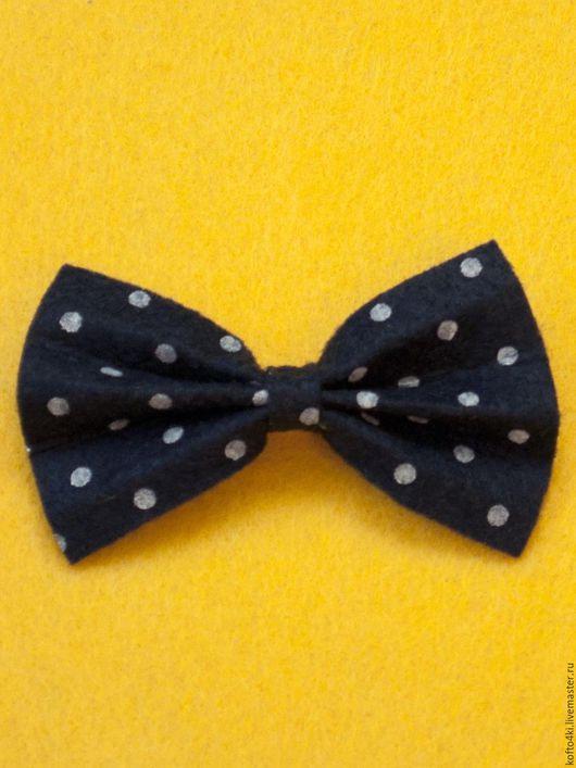 Галстуки, бабочки ручной работы. Ярмарка Мастеров - ручная работа. Купить Брошь галстук-бабочка из фетра. Handmade. Брошь