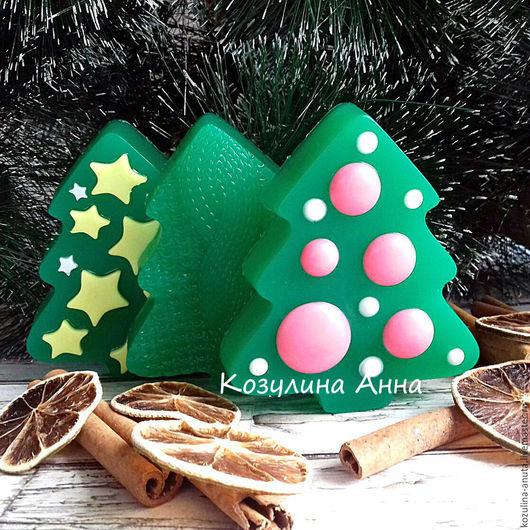 мыло елка,мыло елочка,мыло новогоднее,мыло в подарок,елка с шарами,елка вязаная,елка со звездами