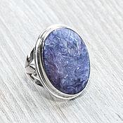 handmade. Livemaster - original item Charoite (ring) (922). Handmade.