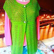 """Одежда ручной работы. Ярмарка Мастеров - ручная работа Жилет - """"яблочно-зеленый"""". Handmade."""