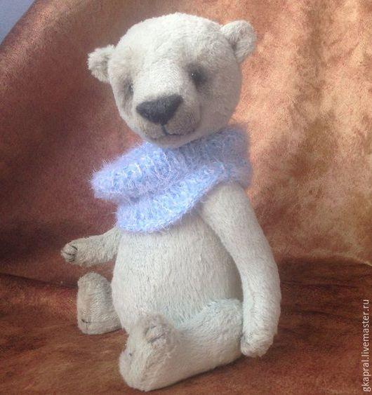 Мишки Тедди ручной работы. Ярмарка Мастеров - ручная работа. Купить Хьюго. Handmade. Голубой, медведь, металлический гранулят