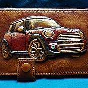 "Сумки и аксессуары handmade. Livemaster - original item Leather driver license cover ""MINI COOPER"". Handmade."