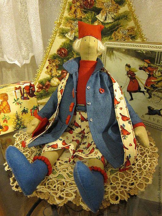 Куклы Тильды ручной работы. Ярмарка Мастеров - ручная работа. Купить Новогодний Талви. Handmade. Тильда, кукла ручной работы