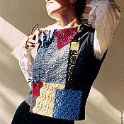 Одежда ручной работы. Ярмарка Мастеров - ручная работа Теплый жилет из шерсти Яркие лоскутки. Handmade.