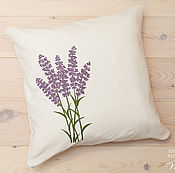 Для дома и интерьера ручной работы. Ярмарка Мастеров - ручная работа Интерьерная подушка Лаванда. Handmade.