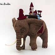 Мягкие игрушки ручной работы. Ярмарка Мастеров - ручная работа Игрушка крючком Слон Тубул (по книге Терри Пратчетта). Handmade.