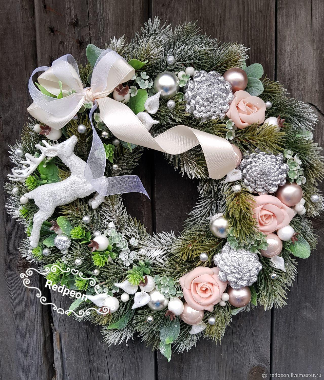 Новогодние венки своими руками для стола фото
