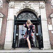 Одежда ручной работы. Ярмарка Мастеров - ручная работа Платье женское вышитое бохо, этно стиль  Vita Kin,Bohemian. Handmade.