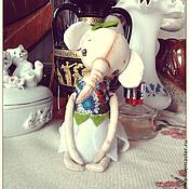 Куклы и игрушки ручной работы. Ярмарка Мастеров - ручная работа Винтажный примитивный слоник девочка.. Handmade.