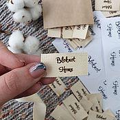 Этикетки ручной работы. Ярмарка Мастеров - ручная работа Хлопковые бирки на заказ. Handmade.