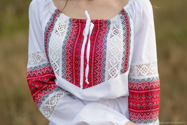 """Блуза """"Огнецвет"""", Народные рубахи, Дзержинск,  Фото №1"""