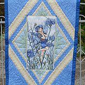 Для дома и интерьера ручной работы. Ярмарка Мастеров - ручная работа Лоскутное одеяло Flower fairy. Handmade.