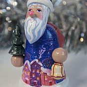Сувениры и подарки handmade. Livemaster - original item Santa Claus and snow maiden: Santa Claus. Wooden figure.. Handmade.