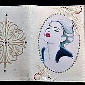 """Канцелярские товары ручной работы. Ярмарка Мастеров - ручная работа Обложка для паспорта """"Леди 2"""". Handmade."""
