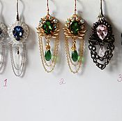 Украшения handmade. Livemaster - original item Earrings in vintage style for the evening with Swarovski in stock. Handmade.