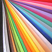 Материалы для творчества ручной работы. Ярмарка Мастеров - ручная работа Фетр жесткий 1 мм 30х30 см 41 цвет. Handmade.