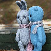 Куклы и игрушки ручной работы. Ярмарка Мастеров - ручная работа Мишка и Зайчик. Handmade.