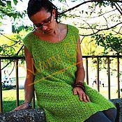 Одежда ручной работы. Ярмарка Мастеров - ручная работа Платье зеленое ажурное крючком. Handmade.