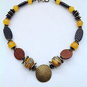 Украшения handmade. Livemaster - original item Necklaces, ethnic beads made from natural materials Massai Hunter.. Handmade.