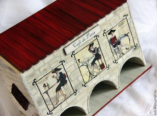 """Кухня ручной работы. Ярмарка Мастеров - ручная работа. Купить Чайный домик """"Кафе в Париже"""" тройной. Handmade. Чайный домик"""