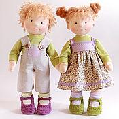Куклы и игрушки ручной работы. Ярмарка Мастеров - ручная работа Текстильные куклы Татошки. Handmade.